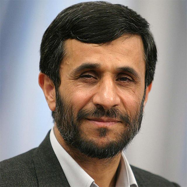 [Image of Mahmoud Ahmadinejad]