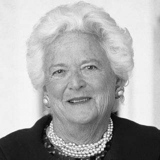 [Image of Barbara Bush]