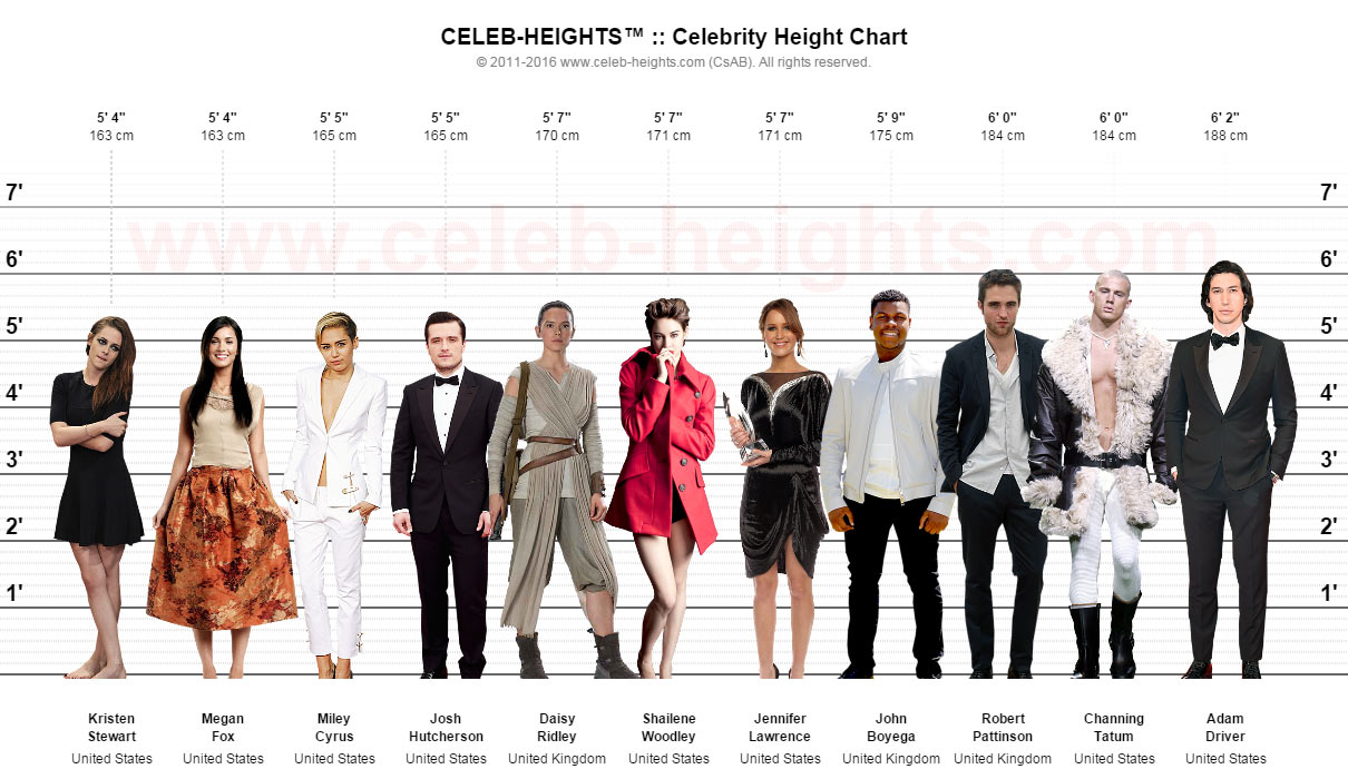 Megan Fox on Height Chart