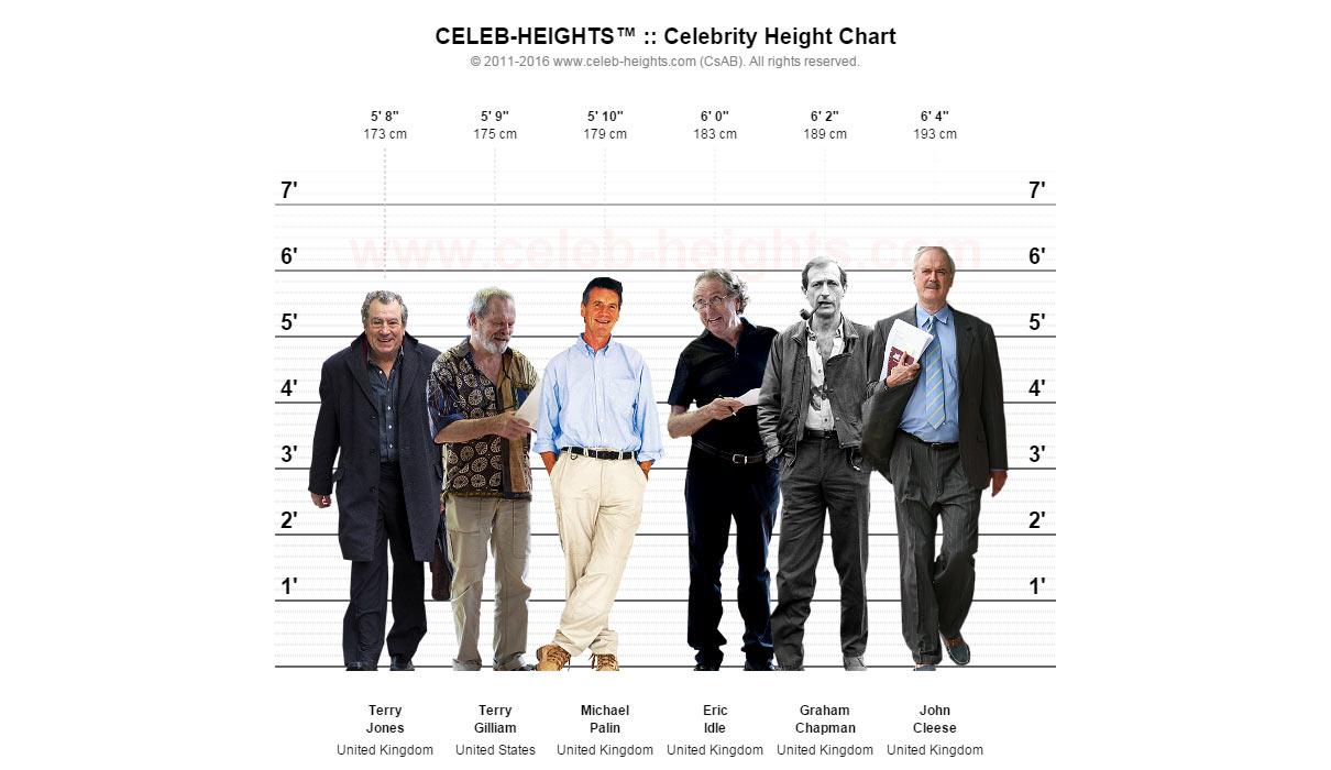 Celebrity Height Chart - Sample