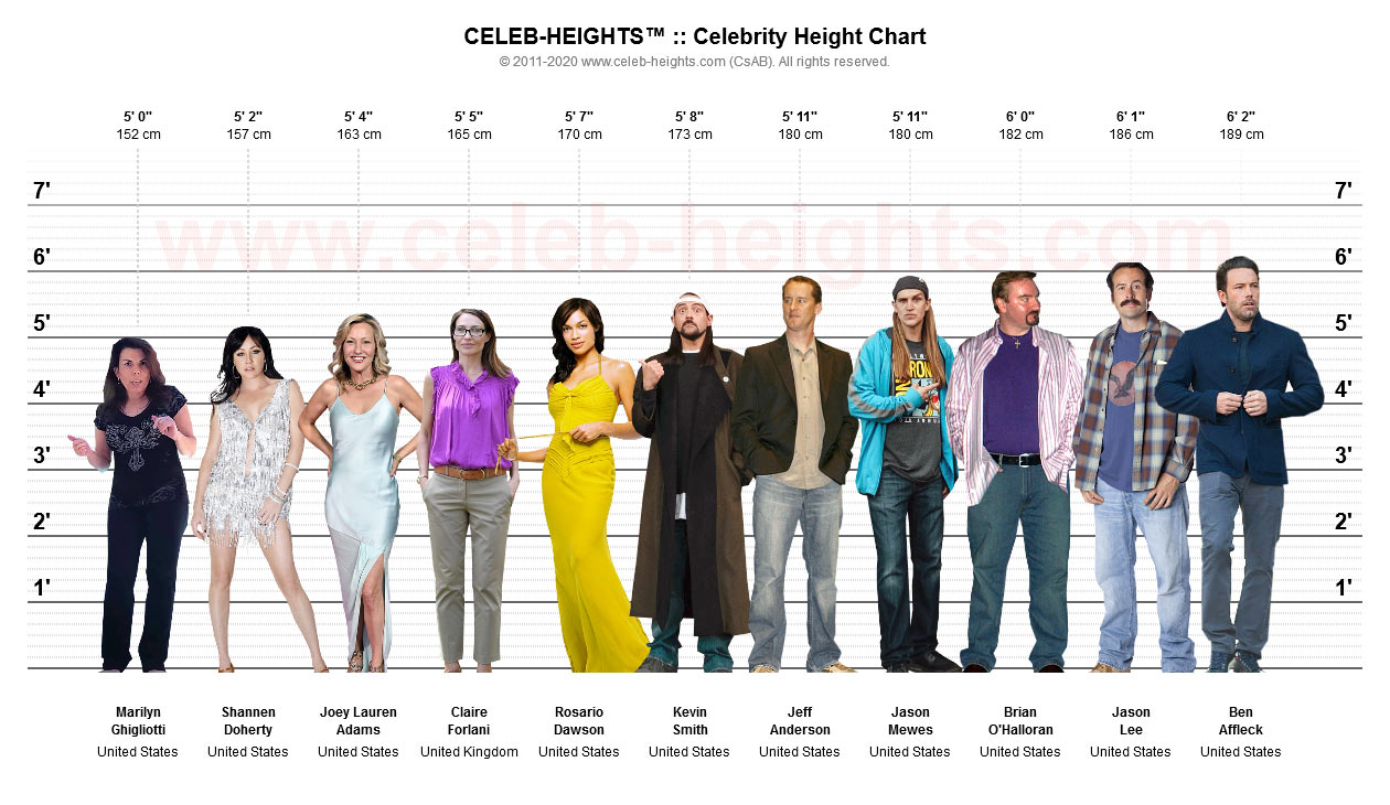 Claire Forlani on Height Chart